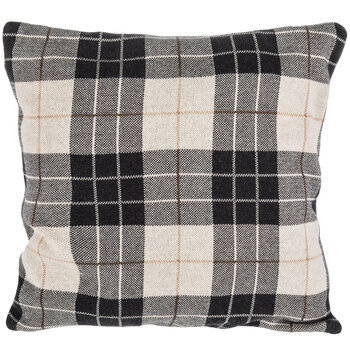 Plaid Knitted Pillow Cover