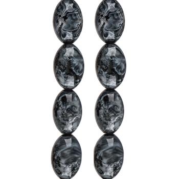 Black & White Swirl Glass Bead Strands
