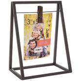 "Gray Metal Clip Frame - 3 1/2"" x 5"""