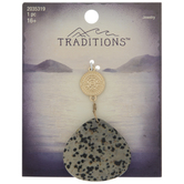 Coin & Speckled Stone Pendant