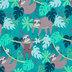 Jungle Sloth Knit Fabric