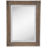 White Fillet Wood Wall Mirror
