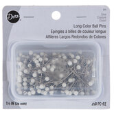 Nickel-Plated Steel Long Ball Pins - Size 24