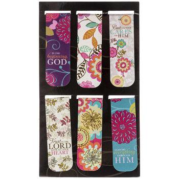 Magnetic Floral Scripture Bookmarks