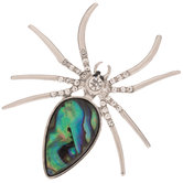 Shell Spider Brooch