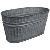 Oval Ribbed Metal Container