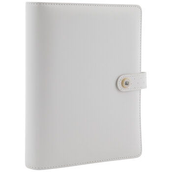 White With Gold Dots 6-Ring Planner Binder