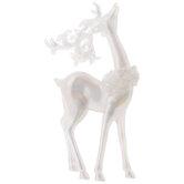 Iridescent Head Up Reindeer Ornament