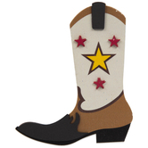 Cowboy Boot Painted Wood Shape