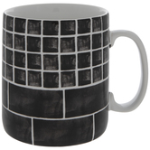 Black & White Subway Tile Jumbo Mug