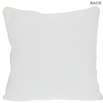 White Swirl Textured Pillow