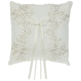 Ivory Floral Lace Ring Pillow