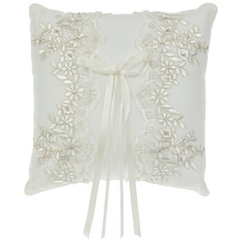 Floral Lace Ring Pillow