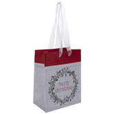 Merry Christmas Wreath Gift Bag