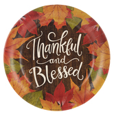 Thankful & Blessed Paper Plates