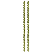Light Olive Czech Glass Pearl Bead Strands - 6mm