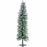 Flocked Accent Pre-Lit Christmas Tree - 5'