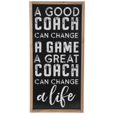 A Good Coach Wood Wall Decor