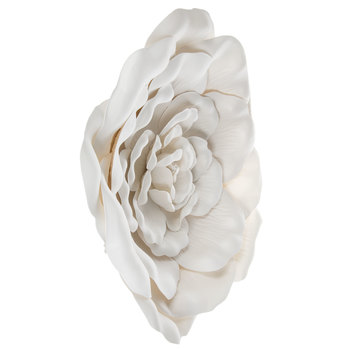White Wild Rose Wall Decor - Large