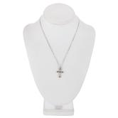 Fleur Tip Cross Necklace