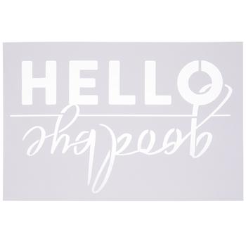 Hello Goodbye Doormat Stencils