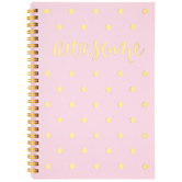 Awesome Polka Dot Spiral Notebook