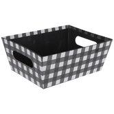 Black & White Buffalo Check Container