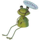 Welcome Frog Metal Shelf Sitter