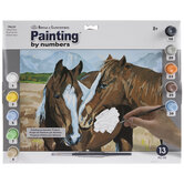 Horses Making Friends Paint By Number Kit