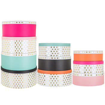 Foil Polka Dot Round Box Set