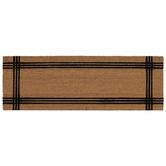 Black Line Frame Coir Doormat