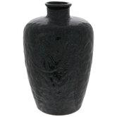 Teal & Brown Marbled Vase