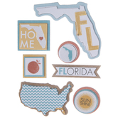 Florida Icons 3D Stickers