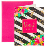 Striped & Floral Thank You Cards