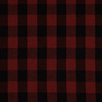 Red & Black Homespun Buffalo Check Cotton Calico Fabric