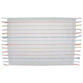 White Dyed Striped Yarn Placemat