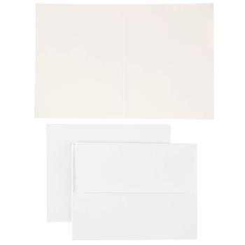 White & Gold Polka Dot Cards