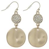 Medallion Dangle Earrings With Rhinestones