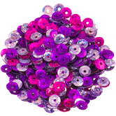 Pink Mix Holographic Round Cup Sequins - 5mm