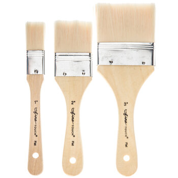 All Purpose Synthetic Bristle Paint Brushes - 3 Piece Set