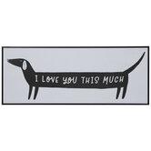 I Love You Dog Wood Wall Decor