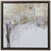 Golden Leaves Canvas Wall Decor