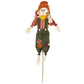 Scarecrow Girl With Orange Hat Stake