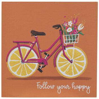 Follow Your Happy Bike Wood Decor