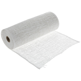 White Soft Deco Mesh Ribbon - 10""