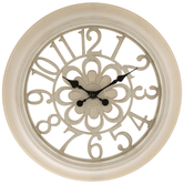 Antique White Flower Wall Clock