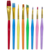 Taklon Paint Brushes - 8 Piece Set