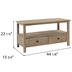 Wood Television Stand With Drawers
