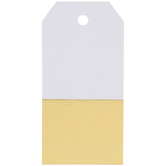 Gold Color Block Foil Tags