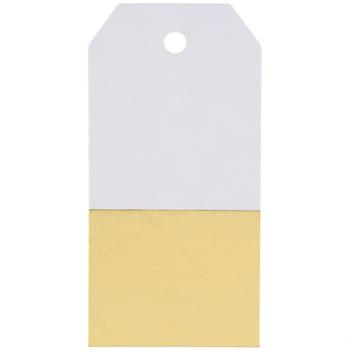 Gold Color Block Foil Tags